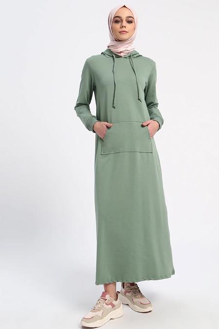 a95d60acd0ed5 Zeytin Yeşili Elbise, İndirimli Satın Al, Online Alışveriş, Sipariş ...