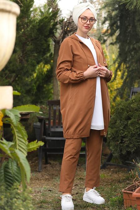 İnşirah Taba Ceket & Pantolon İkili Takım