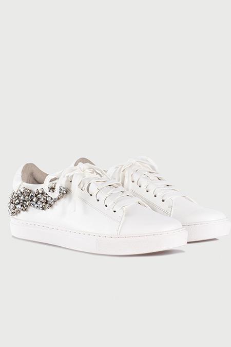 Ipekyol Beyaz Kristal Taş Aplikeli Sneaker