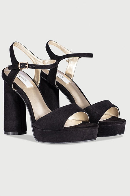 Ipekyol Siyah Bantlı Topuklu Sandalet