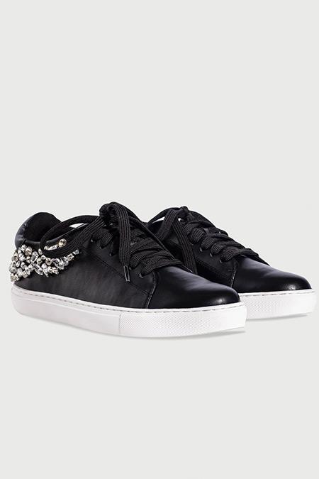 Ipekyol Siyah Kristal Taş Aplikeli Sneaker
