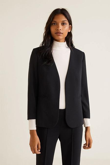 Mango Siyah Takım Blazer Ceket