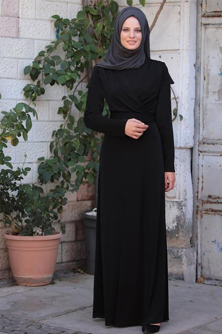 Piennar Siyah Tuğba Elbise