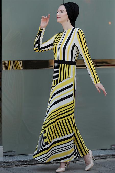 Selma Sarı Design Sarı Şifa Elbise