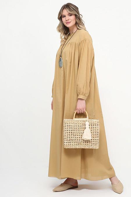 Alia Kum Beji Salaş Elbise