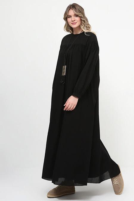 Alia Siyah Salaş Elbise