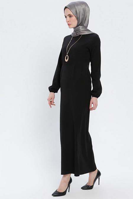 BÜRÜN Siyah Kolyeli Elbise