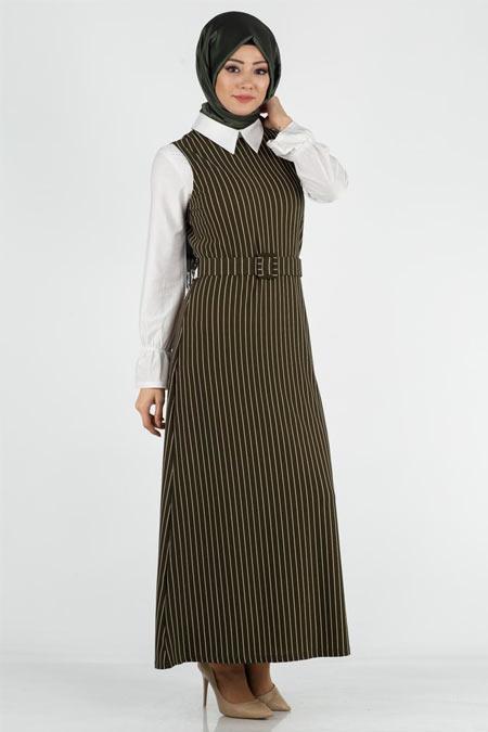 Elbise ve İçlik Tesettür İkili Takım