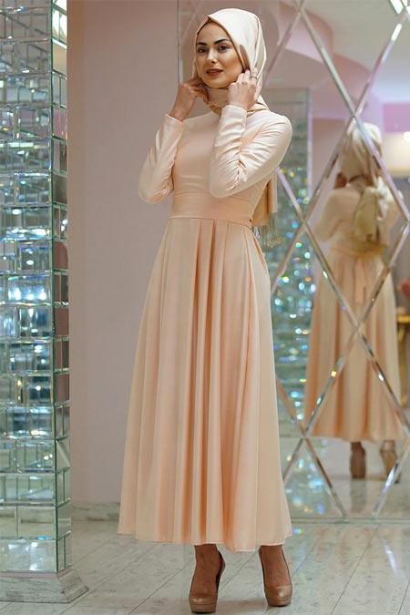 Gamze Özkul Somon Kuşaklı Elbise