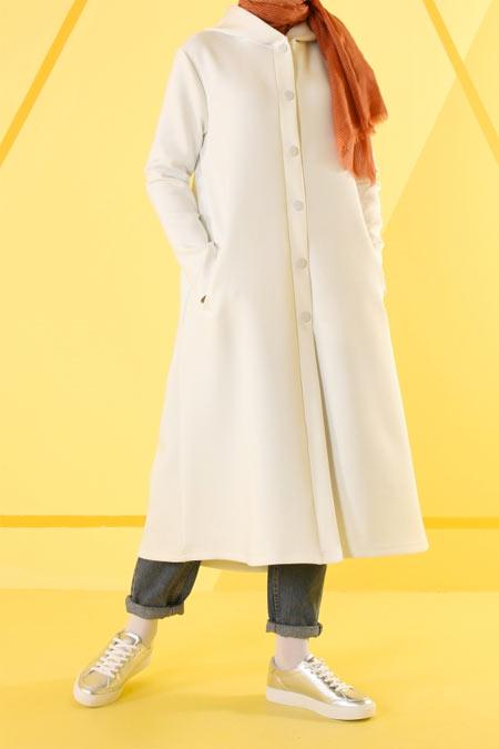HE-QA Beyaz Kapüşonlu Dalgıç Kap