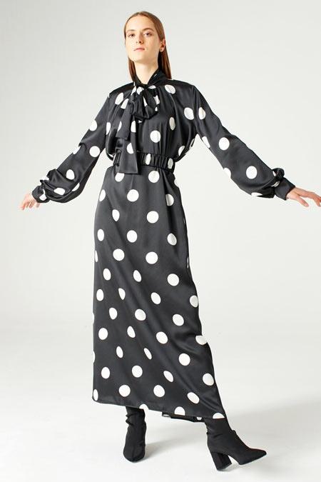 Mizalle Puantiyeli Elbise