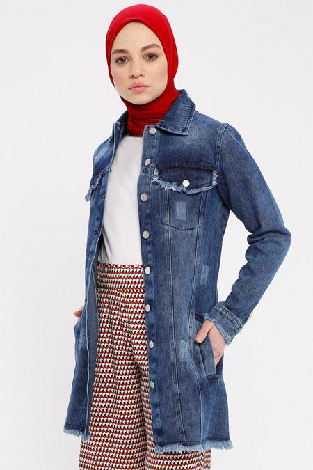 Pink Lady`s Mavi Kot Ceket