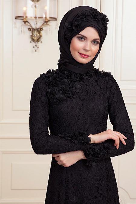 An-Nahar Siyah Eliz Abiye Elbise