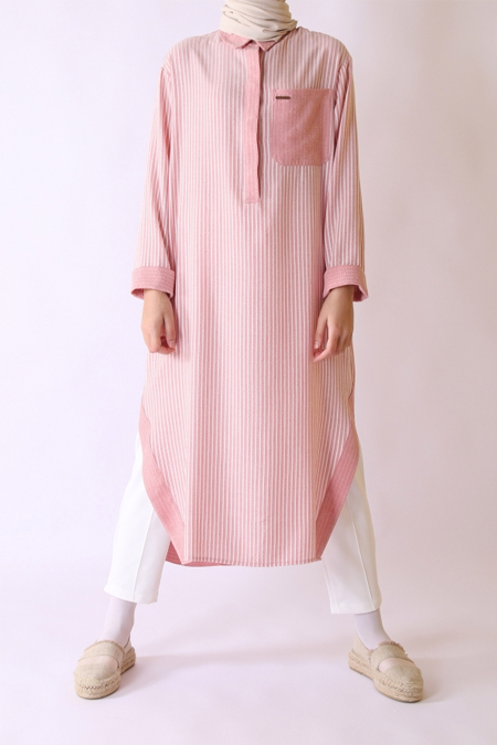 HE-QA Pembe Natural Tunik