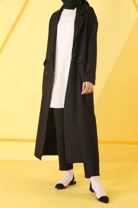 HE-QA Siyah Sera Ceket