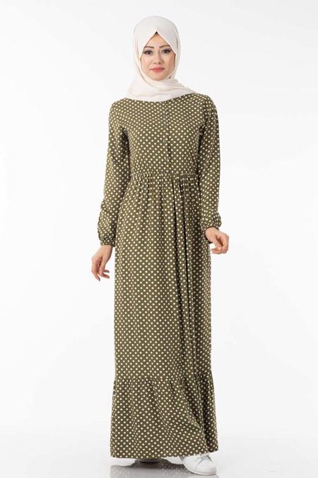 Puantiyeli Tesettür Elbise