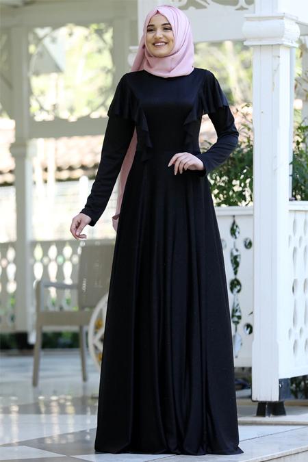 Rana Zenn Siyah Bahar Elbise