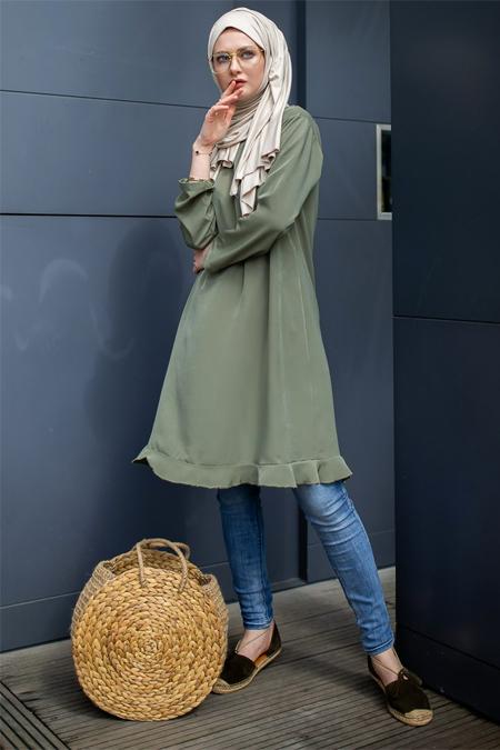 Sazze Design Yeşil Tunik