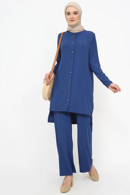 Tavin Koyu Mavi Tunik & Pantolon İkili Takım