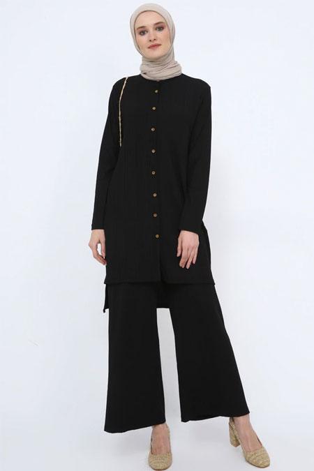 Tavin Siyah Tunik & Pantolon İkili Takım
