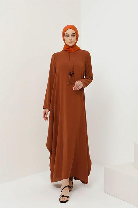 Benin Tarçın Kolyeli Salaş Elbise
