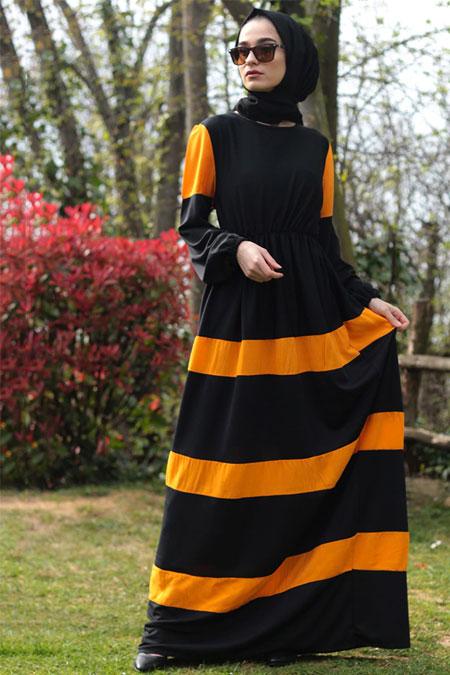 Fatma Aydın Siyah Beli Büzgülü Elbise