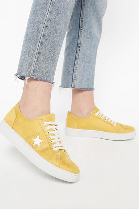 Mascha Sarı Beyaz Spor Ayakkabı