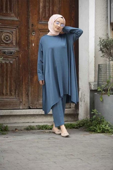 Moda Bahar İndigo İkili Takım