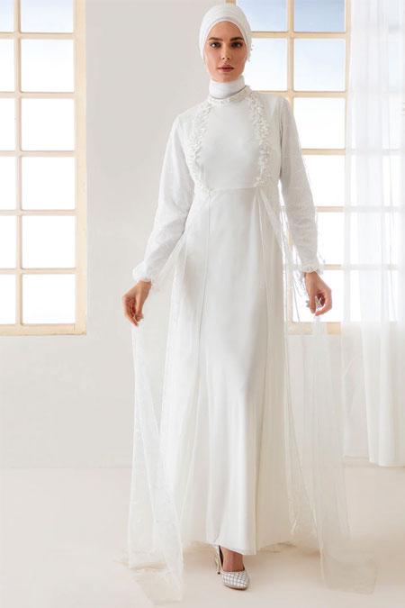 4376f2c089005 Mwedding Beyaz Dantelli Abiye Elbise Online Satış, İndirimli Satın Al