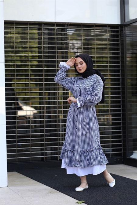 Zeynep Dogan Design Mavi Elbise