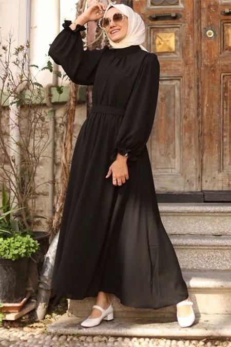 Gizce Siyah Elbise