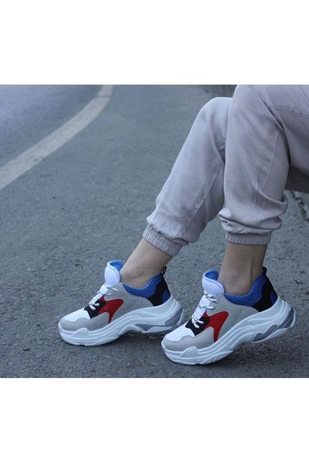 TRANTA SHOES Kırmızı Lacivert Ayakkabı
