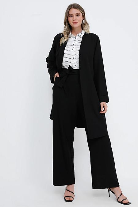 Alia Siyah Kap&Pantolon İkili Takım