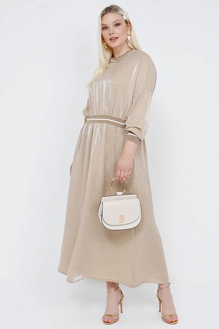 Alia Taş Ribana Detaylı Elbise
