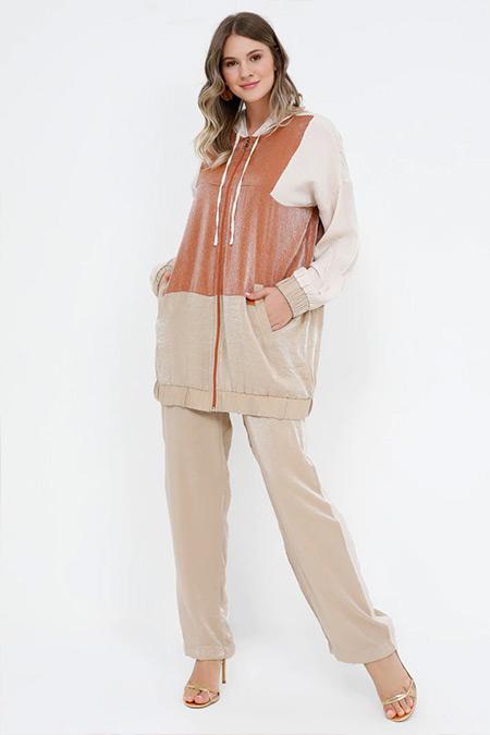 Alia Taş Tarçın Tunik&Pantolon İkili Takım