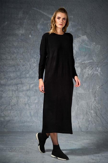 Eda Atalay Siyah Triko Elbise