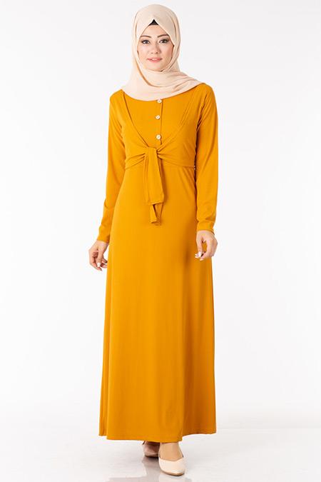 Hardal Bolerolu Elbise