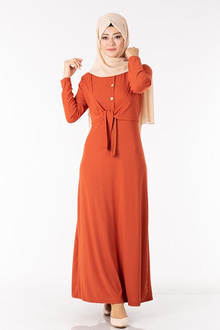 Kiremit Bolerolu Elbise