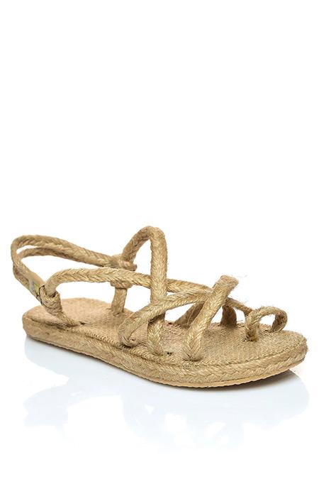 Shoestime Bej Hasır Sandalet