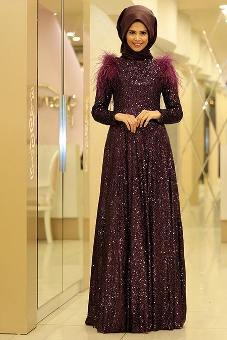 Gamze Özkul Mürdüm Zara Abiye Elbise