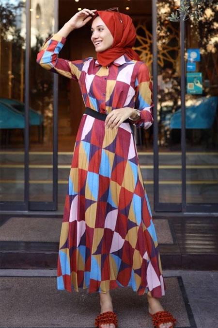 Gizce Kiremit Elbise