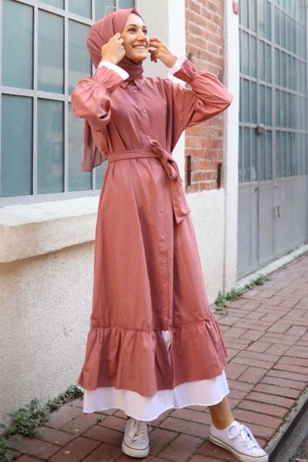 Gizce Pembe Elbise
