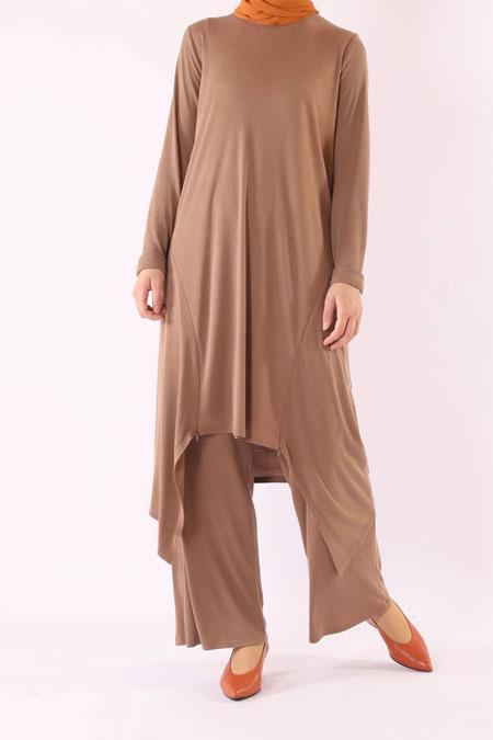 HE-QA Camel Fermuar Detaylı Takım