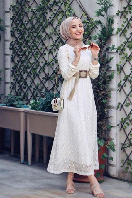 ModaBahar Dantel Detaylı Tesettür Elbise