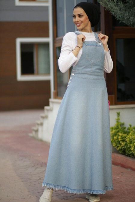Neways Açık Mavi Tesettür Elbise