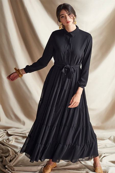Nurbanu Kural Siyah Bahar Elbise