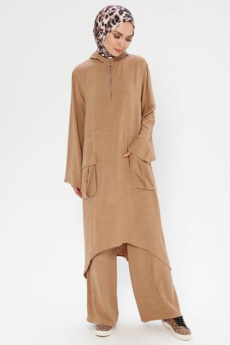 Puane Camel Tunik&Pantolon İkili Takım
