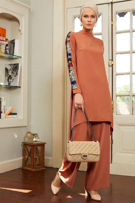 Puane Karamel Tunik & Pantolon İkili Takım