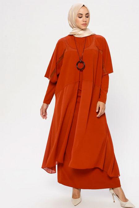 Puane Kiremit Kimono & Elbise İkili Takım