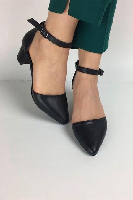 TRANTA SHOES Siyah Cilt Ayakkabı